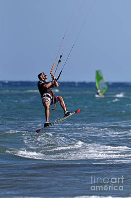 Photograph - Kite Surfing On A Windy Day IIi by George Atsametakis