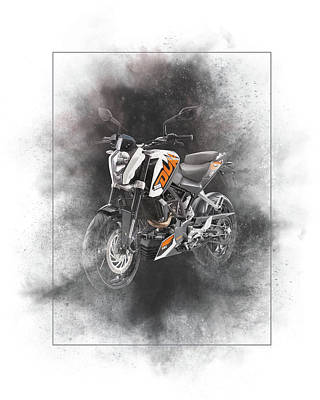 Mixed Media - Ktm Duke 200 Painting by Smart Aviation