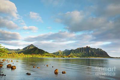Photograph - Kualoa Ridge And Kaneohe Bay by Charmian Vistaunet