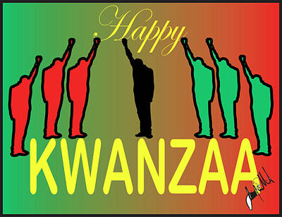 Digital Art - Kwanzaa by Jimmy Williams