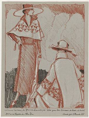 Painting - La Gazette Du Bon Ton, 1921 - No. 3, Pl Xii Tailor Suit, Jeanne Lanvin. And Dress For The Races, Be by Celestial Images