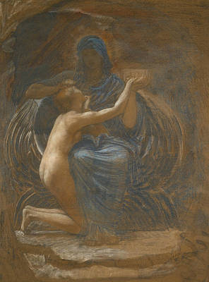 Drawing - La Vierge Consolatrice by William Blake Richmond