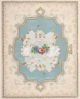 Painting - Lace Paper Valentine  Attributed To Esther Howland American, Worcester 1828-1904 Quincy, Massachuse by Celestial Images