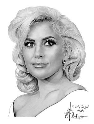 Lady Gaga Wall Art - Drawing - Lady Gaga by Murphy Elliott