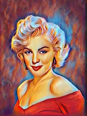Digital Art - Lady  Monroe  by Karen Showell