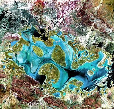 Painting - Lake Carnegie Western Australia by Celestial Images