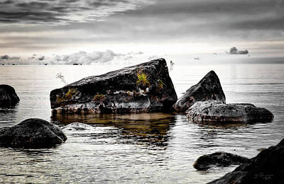 Photograph - Lake Hurons Rocky Shore by Evie Carrier