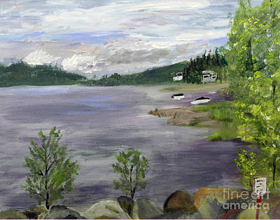Painting - Lake Willoughby by Donna Walsh