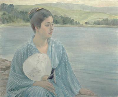 Painting - Lakeside by Kuroda Seiki