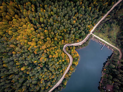 Photograph - Lakeside Road by Okan YILMAZ