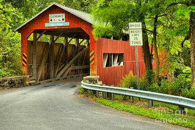 Photograph - Landisburg Covered Bridge by Adam Jewell
