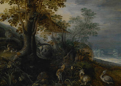 Painting - Landscape With Animals by Roelant Savery