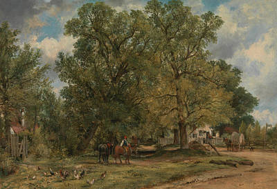 Painting - Landscape With Cottages by Frederick W Watts