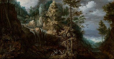 Painting - Landscape With The Temptation Of Saint Anthony by Roelant Savery