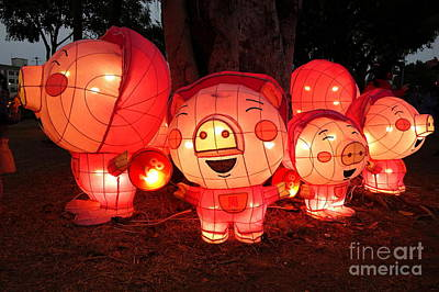 Photograph - Lantern Festival For The Chinese Year Of The Pig by Yali Shi