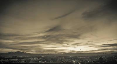 Photograph - Las Vegas Nevada Evening City Lights And Street Views  by Alex Grichenko