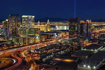 Photograph - Las Vegas Nv  Strip Aerial  by Susan Candelario