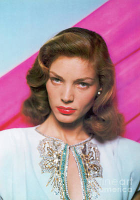 Photograph - Lauren Bacall by Granger
