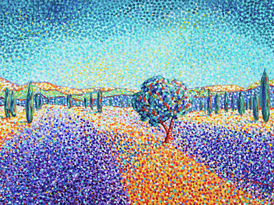 Painting - Lavender Field In Provence by Cristina Stefan