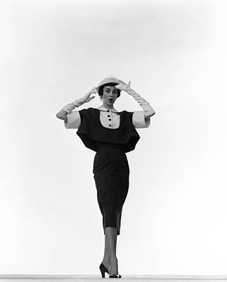 Photograph - Leigh Models Traina-norell Outfit by Gjon Mili