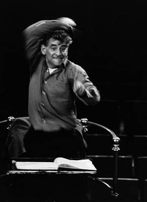 Photograph - Leonard Bernstein by Erich Auerbach