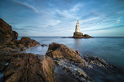 Photograph - Lighthouse In Ahtopol, Bulgaria by Milan Ljubisavljevic