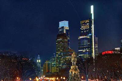 Photograph - Lights - Philadelphia by Bill Cannon