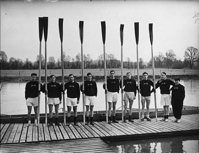 Oar Photograph - Line Of Oars by J. A. Hampton