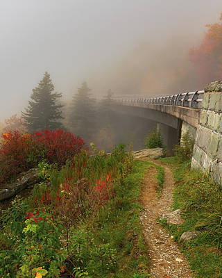Photograph - Linn Cove Viaduct - Blue Ridge Parkway by Mike Koenig