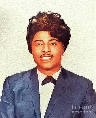 Jazz Royalty-Free and Rights-Managed Images - Little Richard, Music Legend by John Springfield