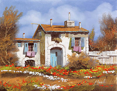 Beach House Throw Pillows Rights Managed Images - Lo Steccato Royalty-Free Image by Guido Borelli