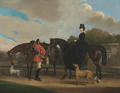 Painting - Lord And Lady Twemlow by William Barraud
