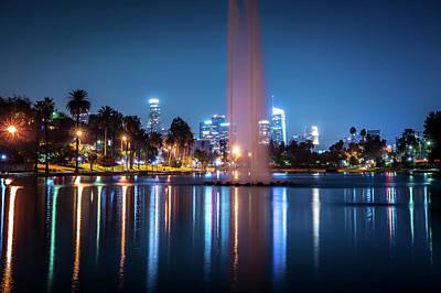 Modern Kitchen - Los Angeles california city downtown at night by Alex Grichenko