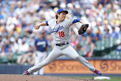 Photograph - Los Angeles Dodgers V Milwaukee Brewers by Joe Robbins