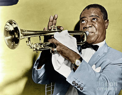 Photograph - Louis Armstrong by Granger