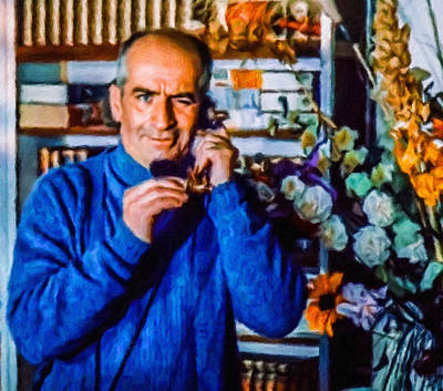 Painting - Louis De Funes by Vincent Monozlay