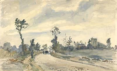 Drawing - Louveciennes, Route De Saint-germain by Camille Pissarro