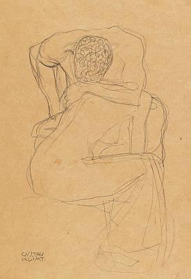 Drawing - Lovers by Gustav Klimt