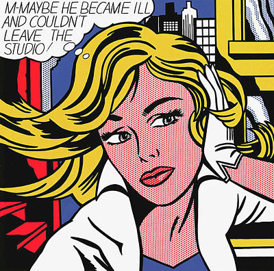 Photograph - M-maybe - Roy Lichtenstein by Doc Braham - In Tribute to Roy Lichtenstein