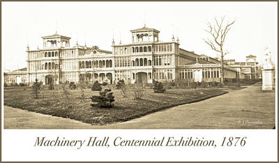Photograph - Machinery Hall, Centennial Exhibition, 1876 by A Gurmankin
