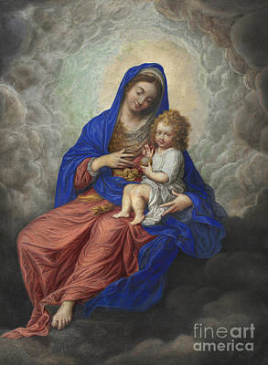Painting - Madonna And Child In Glory by Isaac Oliver