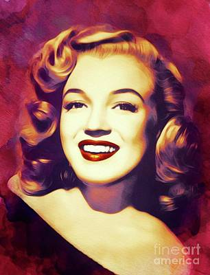 Royalty-Free and Rights-Managed Images - Marilyn Monroe, Actress by Esoterica Art Agency