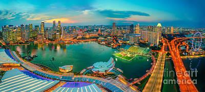 Photograph - Marina Bay Singapore Panorama by Benny Marty