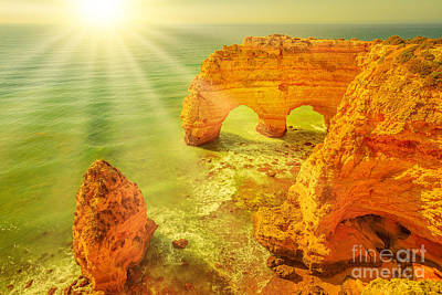 Photograph - Marinha Beach Natual Arches by Benny Marty