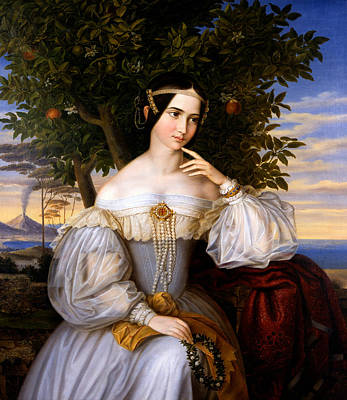 Painting - Marriage Portrait Of Charlotte De Rothschild by Moritz Daniel Oppenheim