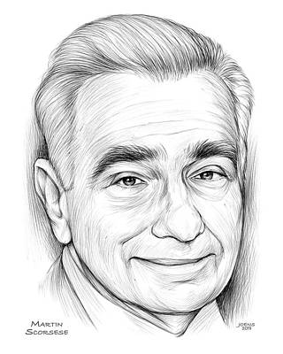 Drawings Rights Managed Images - Martin Scorsese Royalty-Free Image by Greg Joens