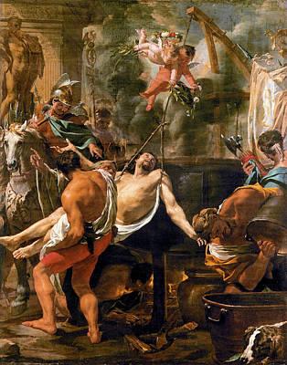 Painting - Martyrdom Of Saint John The Evangelist  by Charles le Brun