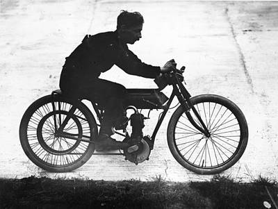 Photograph - Matchless Motorcycle by Topical Press Agency