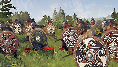 Painting - Medieval Army In Battle - 29 by Andrea Mazzocchetti