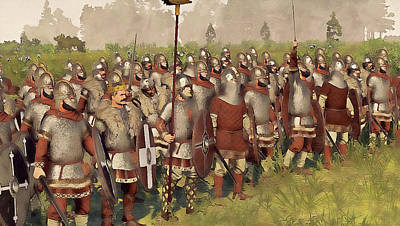 Painting - Medieval Army In Battle - 30 by Andrea Mazzocchetti